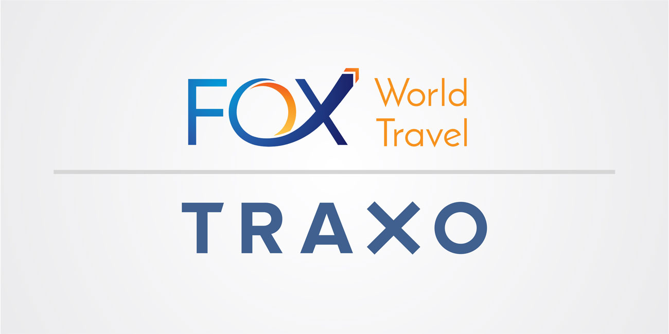Traxo and Fox World Travel Logos